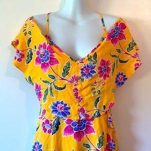 Forever 21 Drop Shoulder Floral Summer Dress